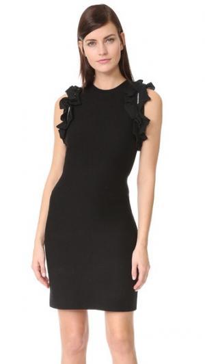 Однотонное платье без рукавов с оборками 3.1 Phillip Lim. Цвет: голубой