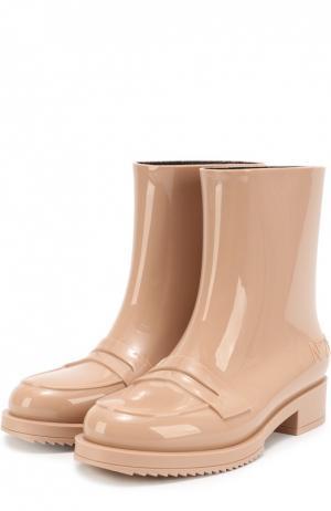 Резиновые сапоги с перемычкой N21#Kartell. Цвет: бежевый
