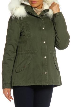 Куртка RISSKIO. Цвет: хаки