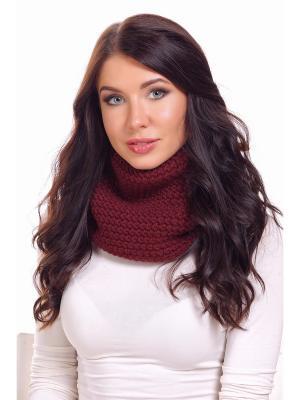 Снуд Siberika. Цвет: бордовый, коричневый