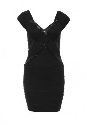 Платье Moda Corazon. Цвет: черный