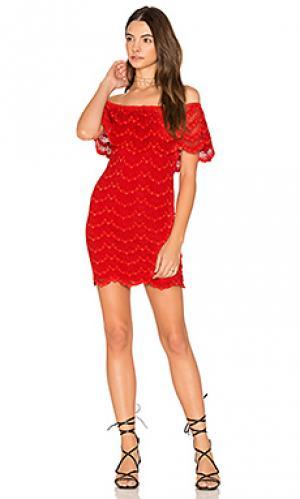 Мини платье bachelorette Nightcap. Цвет: красный