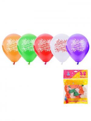 Набор воздушных шаров А М Дизайн. Цвет: фиолетовый, красный, молочный, оранжевый, светло-зеленый
