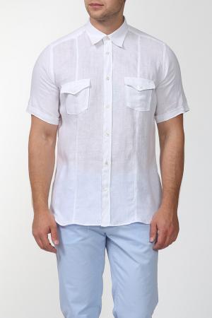Рубашка с короткими рукавами Smalto. Цвет: белый