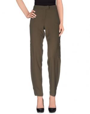 Повседневные брюки GLAM CRISTINAEFFE. Цвет: зеленый-милитари