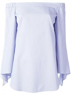 Блузка с открытыми плечами Steffen Schraut. Цвет: синий