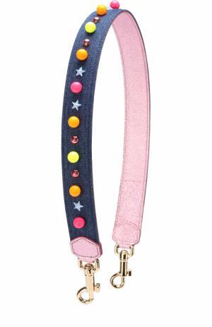 Ремень для сумки с аппликациями Dolce & Gabbana. Цвет: синий