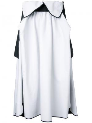 Расклешенная юбка Atlas Maticevski. Цвет: белый