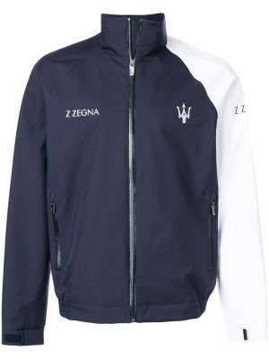 Куртка на молнии Z Zegna. Цвет: синий