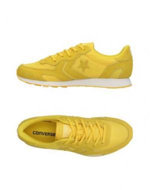 Низкие кеды и кроссовки CONVERSE CONS. Цвет: желтый
