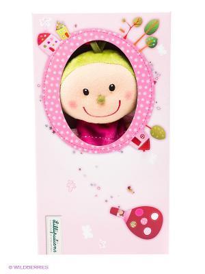 Божья коровка Лиза Игрушка-обнимашка в коробке Lilliputiens. Цвет: розовый
