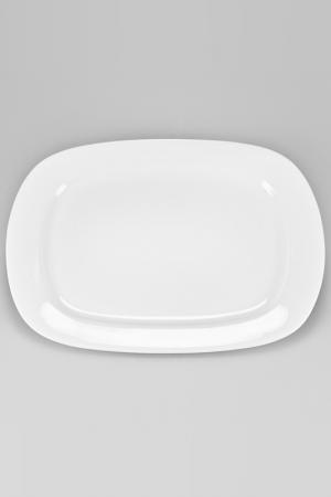 Блюдо прямоугольное, 25 см Nikko. Цвет: белый
