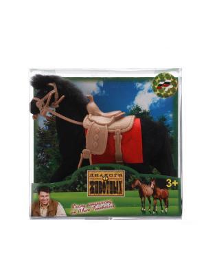 Лошадь Играем Вместе флокированное покрытие, с аксессуароми. Цвет: голубой, черный