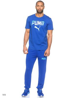 Брюки ESS No.1 Sweat Pants, TR, cl Puma. Цвет: синий