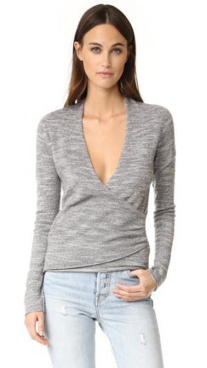 Пуловер с запахом Lawes Brochu Walker. Цвет: флинт комбо