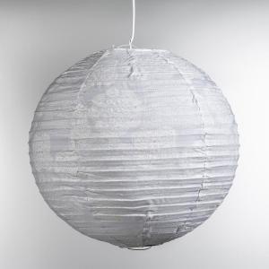 Абажур подвесной из хлопка Bensimon. Цвет: белый наб.рисунок