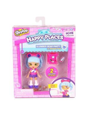 Набор фигурок Happy Places Петкинс с куклой Shoppie Риана Радио Moose. Цвет: розовый