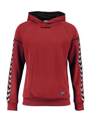 Худи AUTHENTIC  CHARGE POLY HOODIE HUMMEL. Цвет: красный