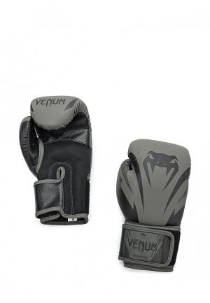 Перчатки боксерские Venum. Цвет: серый