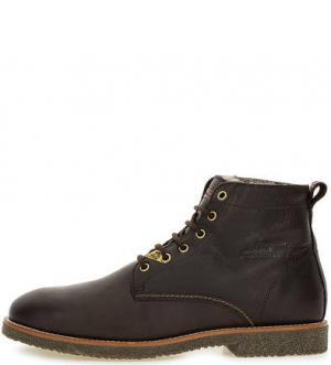 Утепленные ботинки из натуральной кожи Panama Jack. Цвет: коричневый