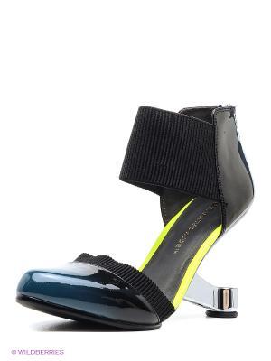 Туфли UNITED NUDE. Цвет: черный, синий