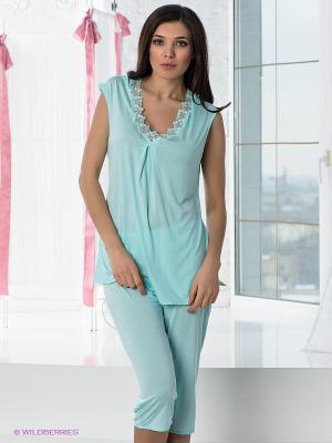 Пижама COTTONLAB. Цвет: бирюзовый