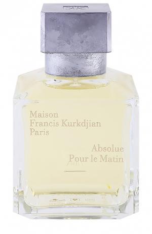 Парфюмерная вода Absolue Pour le Matin Maison Francis Kurkdjian. Цвет: бесцветный