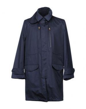 Легкое пальто DUNHILL. Цвет: темно-синий