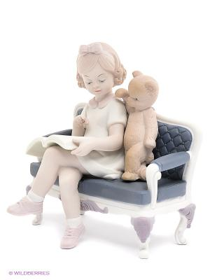 Статуэтка Любимое занятие Pavone. Цвет: белый, серо-голубой, бежевый, бледно-розовый