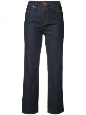 Укороченные джинсы с завышенной талией Closed. Цвет: синий