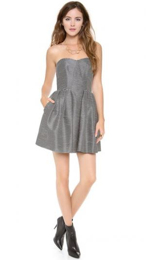 Strapless Striped Dress Jill Stuart. Цвет: черный/золотистый