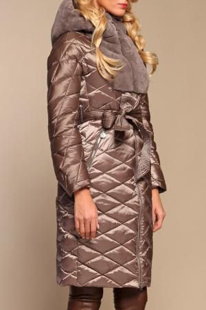Пуховое пальто Naumi. Цвет: серо-коричневый