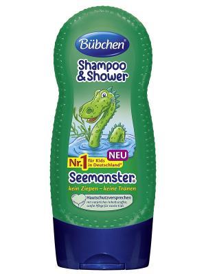 Шампунь для мытья волос и тела Зелёный монстр, 230 мл Bubchen. Цвет: темно-зеленый