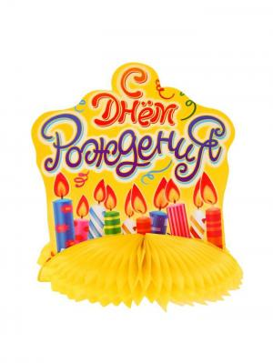 Украшение стола на День Рождения А М Дизайн. Цвет: красный, желтый, фуксия