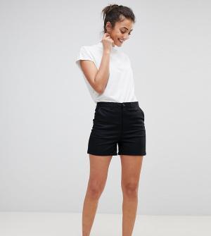 ASOS Tall Черные шорты чиносы DESIGN. Цвет: черный