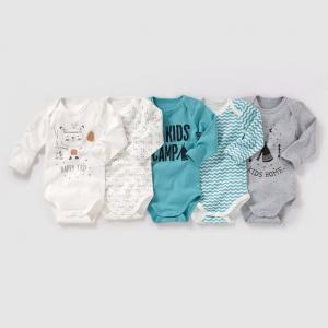 Комплект из 5 боди с длинными рукавами на возраст от 0 месяцев до 3 лет. R édition. Цвет: разноцветный