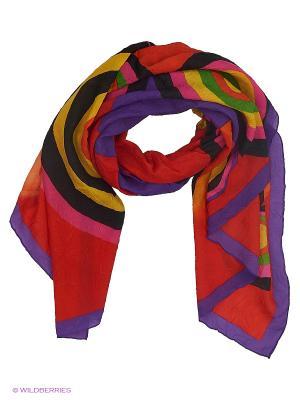 Парео текстильное Vittorio Richi. Цвет: оранжевый, фиолетовый