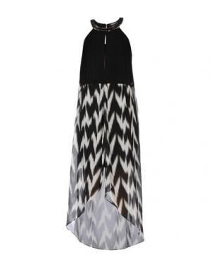 Длинное платье MORGAN DE TOI. Цвет: черный