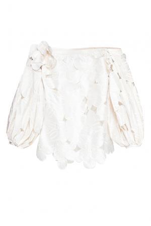 Блуза из шелка 168330 Alina German. Цвет: белый
