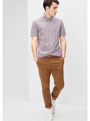 Рубашка S.OLIVER. Цвет: бордовый