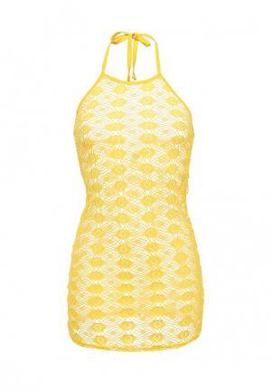 Платье Emdi. Цвет: желтый
