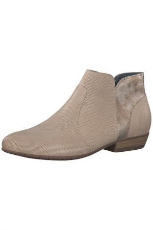 Ботинки на молнии Tamaris. Цвет: бежевый, комбинированный