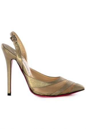High-heels sandals Luciano Padovan. Цвет: gold