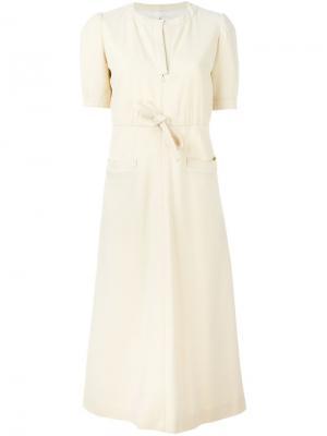 Длинное платье Courrèges Vintage. Цвет: телесный
