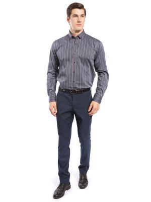 Рубашка GroStyle. Цвет: синий, белый, серый