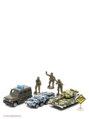 Набор военной техники Технопарк. Цвет: хаки, серо-зеленый