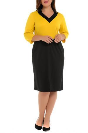 Платье Svesta. Цвет: черный, желтый