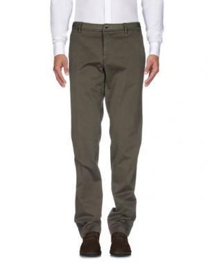 Повседневные брюки MASON'S. Цвет: зеленый-милитари