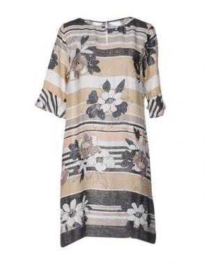 Короткое платье LA FABBRICA del LINO. Цвет: какао