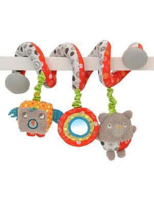 Игрушка-спираль мишки для детской кроватки Little Bird Told Me. Цвет: серый